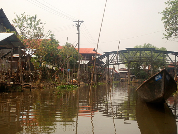 A village on Inle Lake, Burma (Myanmar)