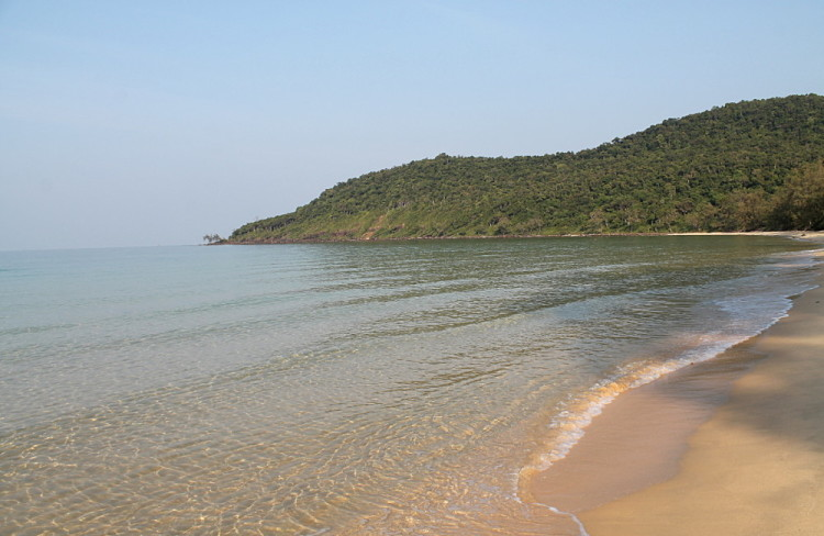 Deserted Lazy Beach on Koh Rong Samloem, Cambodia