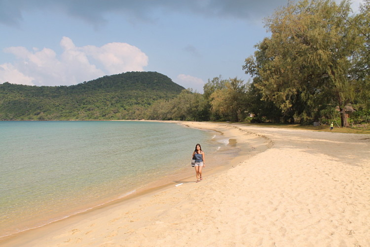 Beautiful Lazy Beach on Koh Rong Samloem, Cambodia