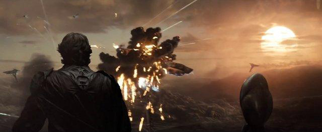 Krypton being destroyed in Man of Steel