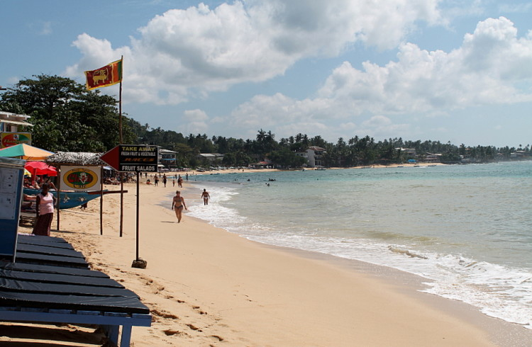 Unawatuna beach, close to the Galle fort in Southwest Sri Lanka