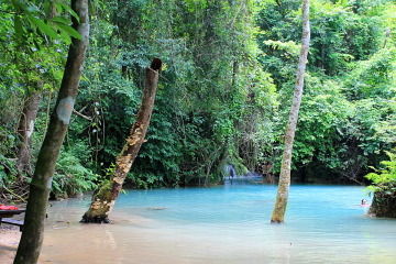 Kuang Si falls, waterfalls close to Luang Prabang, Laos