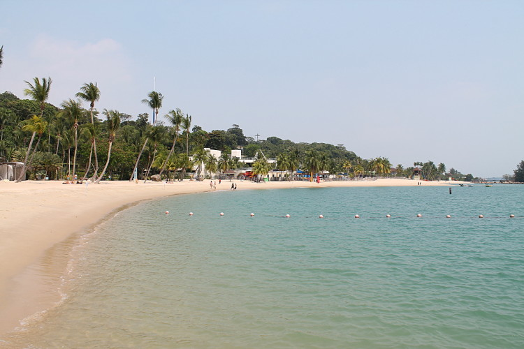 Siloso Beach, Sentosa Island, one of the best beaches in Singapore