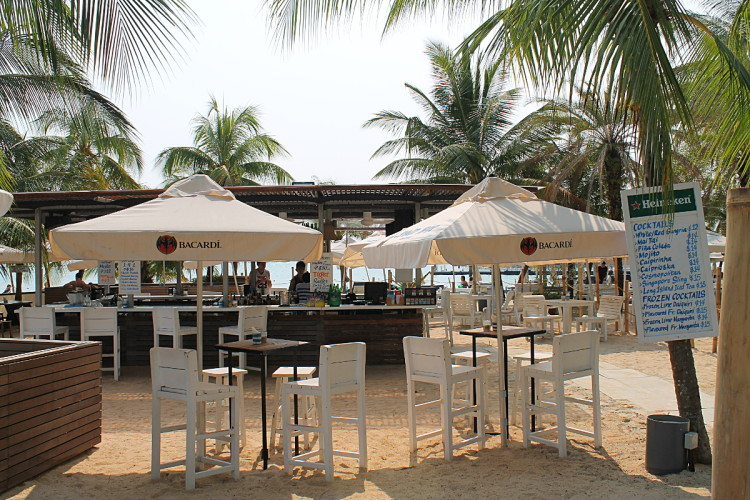 Beach bar at Siliso Beach, one of the best beaches in Singapore