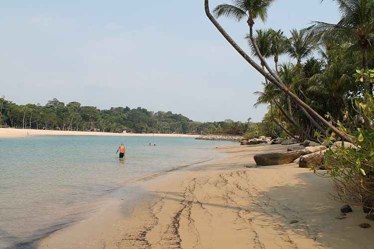 One of the best beaches in Singapore is Palawan Beach on Sentosa Island,