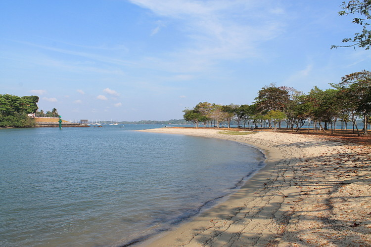 Beach at Changi Park, one of the best beaches in Singapore