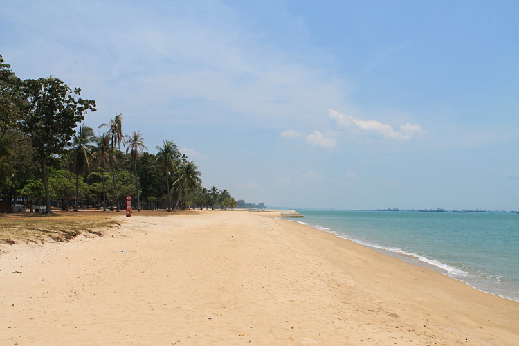 Beach at East Coast Park, on of my favourite beaches in Singapore