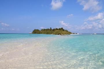 A sand bar at Asdu Sun Island Resort, the Maldives