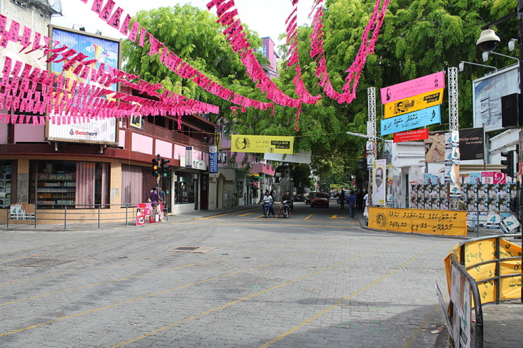 The main street in Malé, The Maldives - make time for a Day in Malé if you can