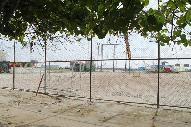 A day in Malé - a football pitch