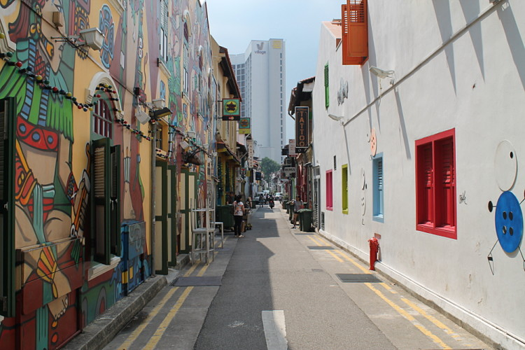 Graffiti at Haji Lane, Kampong Glam, one of the historical districts in Singapore