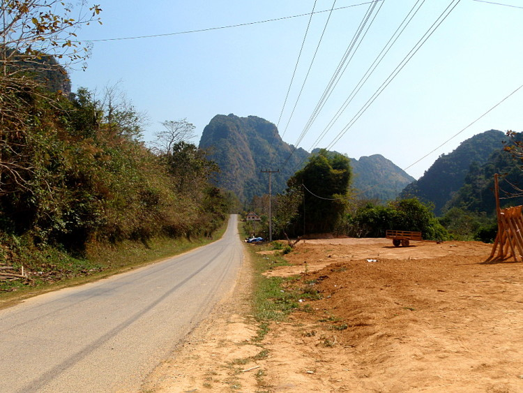 The open road outside of Nong Khiaw, Laos