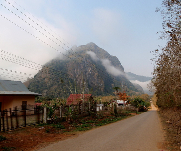 A mountain in Nong Khiaw, Laos
