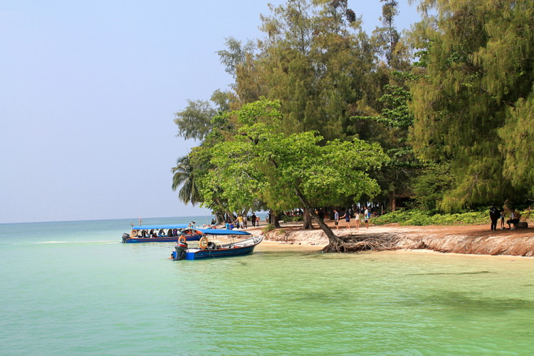 A beach on the island hopping tour in Langkawi, Malaysia
