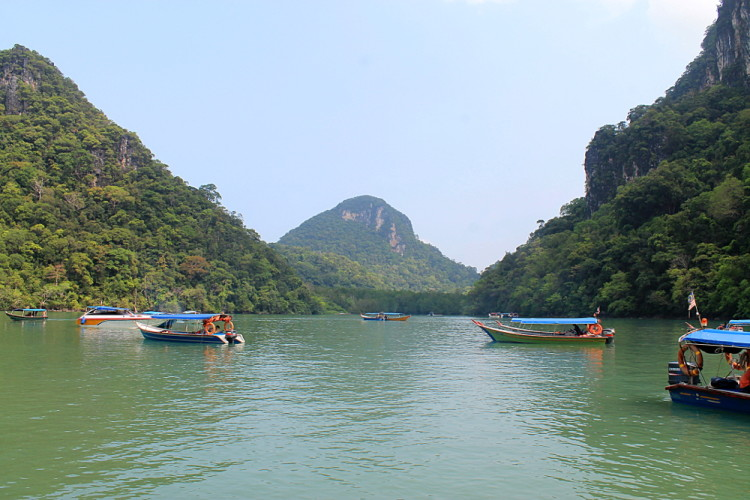 The first stop on the island hopping tour in Langkawi, Malaysia