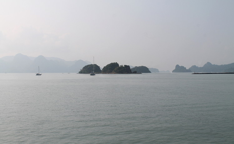 Islands in the distance on the island hopping tour in Langkawi, Malaysia