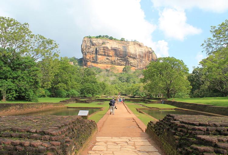 The Lion Rock, in Sigiriya, Sri Lanka