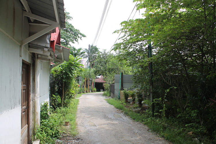The main street in Kampong Buangkok, the last kampong in mainland Singapore