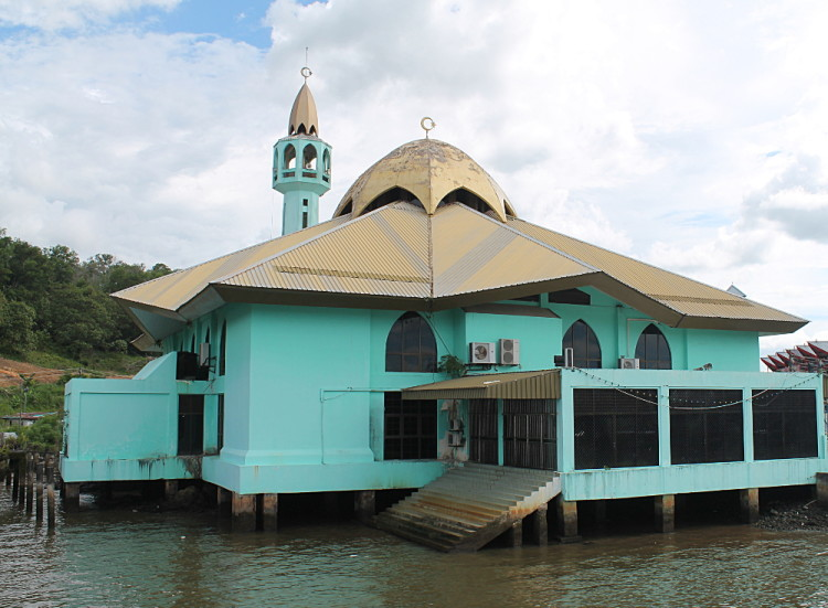 A mosque in Kampong Ayer, a water village in Brunei