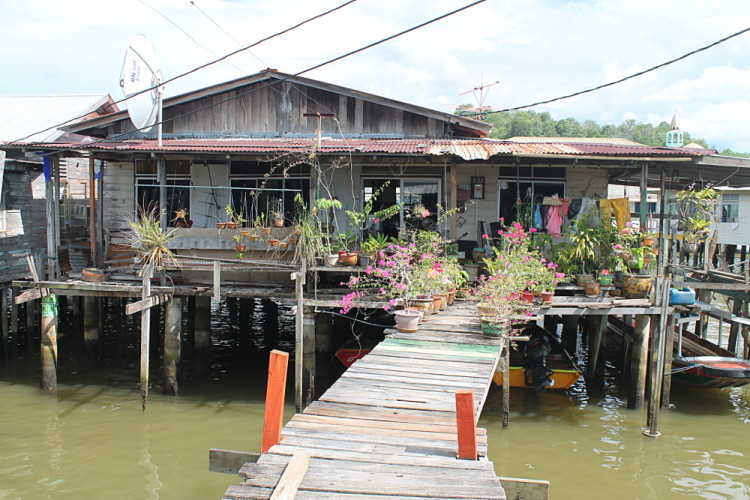 A house in Kampong Ayer, an interesting water village in Brunei