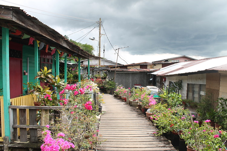 Gardens at Kampong Ayer, a water village in Brunei