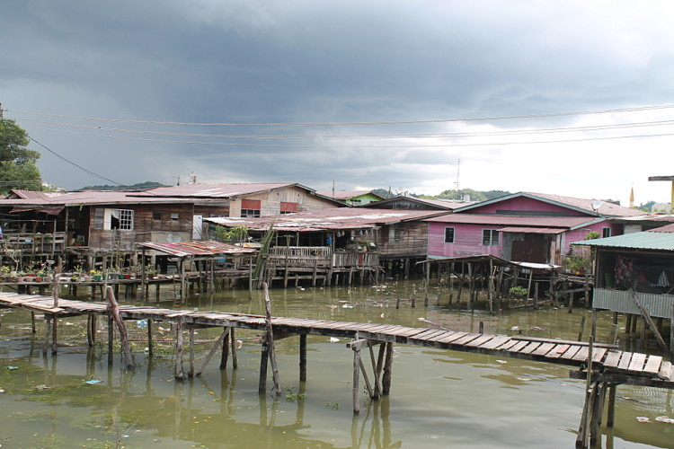A bridge in Kampong Ayer, a historical water village in Brunei