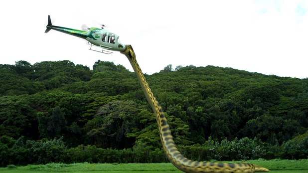 A pirhanaconda attacking a helicopter, probably not in the Cameron Highlands, Malaysia