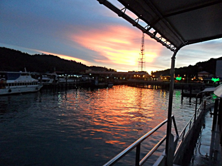 A sunset on Pangkor, one of the quietest islands in Malaysia