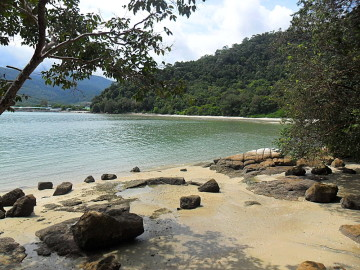 A beach on Penang, one of the best islands in Malaysia