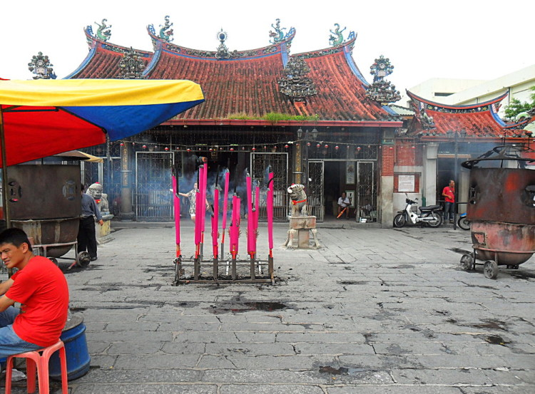 a temple in Georgetown, Penang, one of the most interesting islands in Malaysia