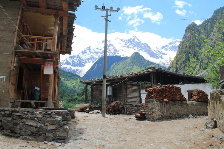 The main street in Upper Yubeng, Yunnan, China