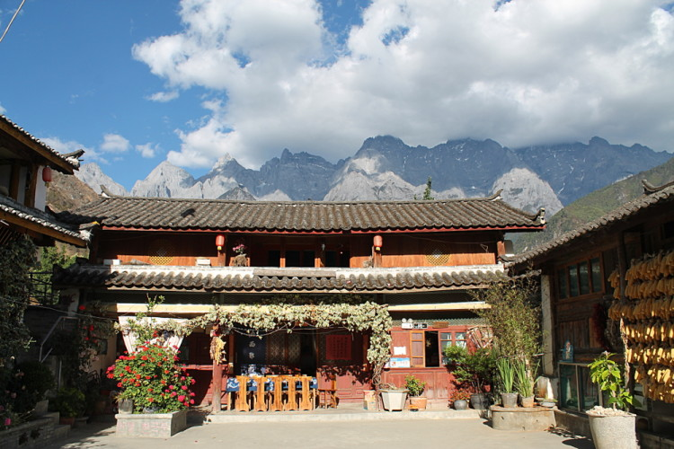 Naxi Family Guesthouse on the Tiger Leaping Gorge trek, Yunnan, China
