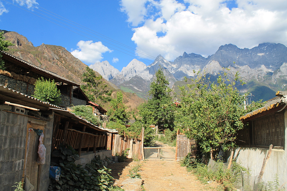 A village along Tiger Leaping Gorge, Yunnan, China