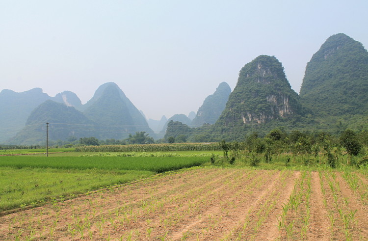 The countryside around Yangshuo, China