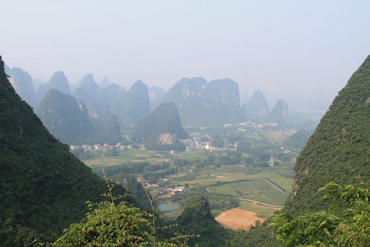 The view from Moon Hill, Yangshuo, China