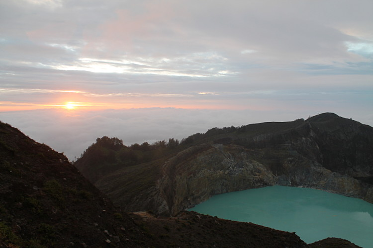 The sunrise on Kelimutu, Flores, Indonesia