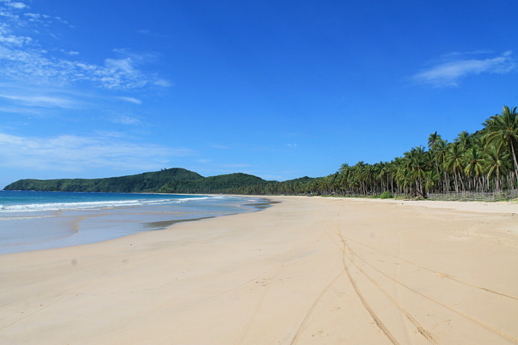 Nacpan Beach, one of the best beaches of El Nido, Palawan, The Philippines