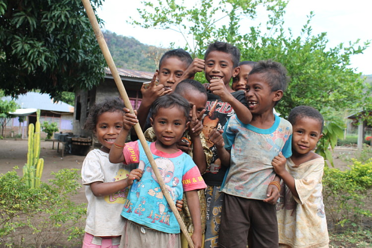 Kids in a village near Maumere, Flores, Indonesia