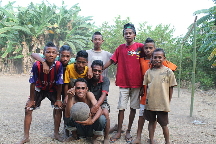 Playing football in Maumere, Flores, Indonesia