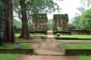 The old city of Polonnaruwa, a great stop on the backpacking in Sri Lanka trail