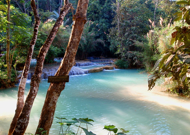 Kuang Si Falls, one of the best natural wonders in Southeast Asia