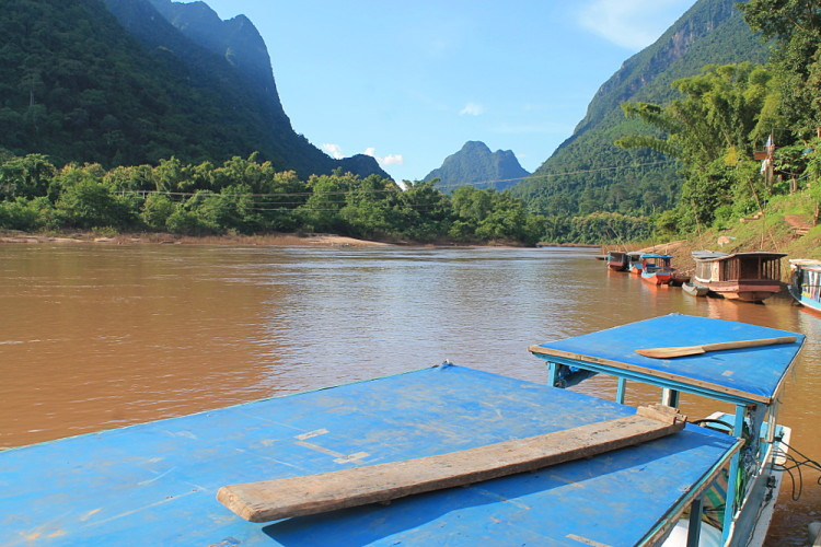 At the end of the journey from Nong Khiaw to Muang Ngoi, Laos