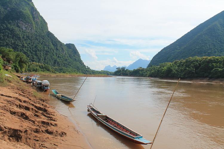 boats in Muang Ngoi, Laos