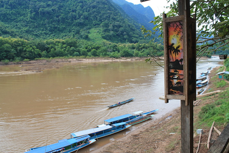 Muang Ngoi Laos, river view