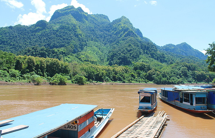 The start of the journey from Nong Khiaw to Muang Ngoi, Laos