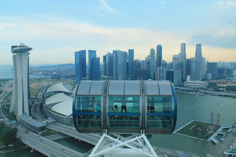 The Singapore Flyer - a good thing to do if you have 2 days in Singapore