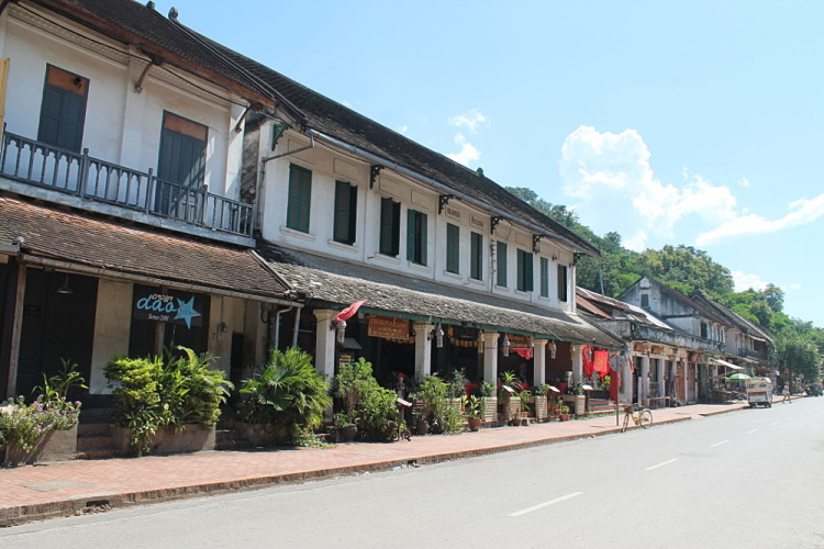 The streets of Luang Prabang, Laos