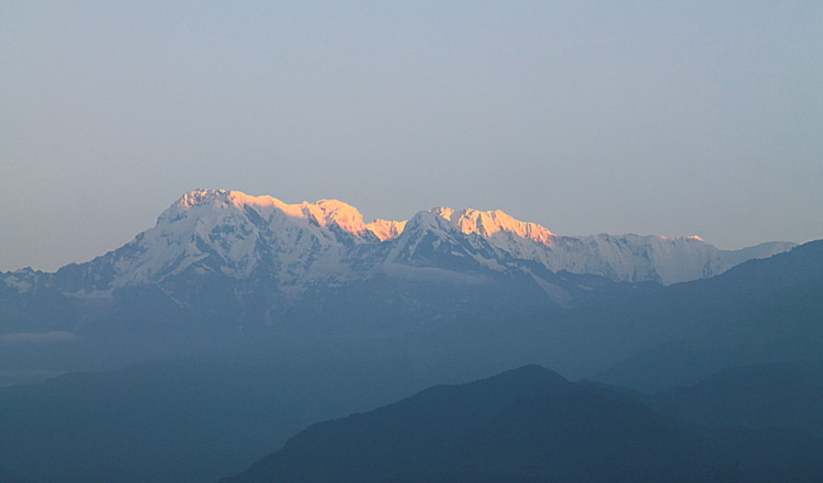 Annapurna range during the sunrise in Sarangkot