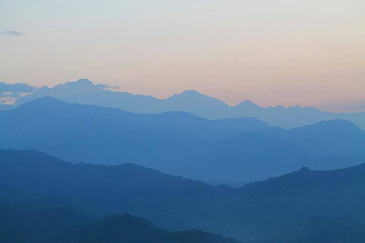 A stunning sunrise in Sarangkot, Nepal