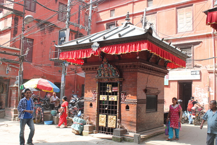 A temple on the streets of Kathmandu
